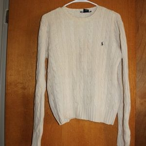 Ralph Lauren White sweater size large